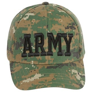 United States Army Block Letters Camo Adjustable Cap