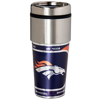 Great American Products Denver Broncos Travel Tumbler Stainless Steel 16 oz. Travel Tumbler
