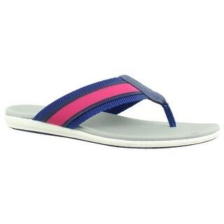 Aerosoles Womens Stopwatch PinkCombo Flip Flops Size 6.5