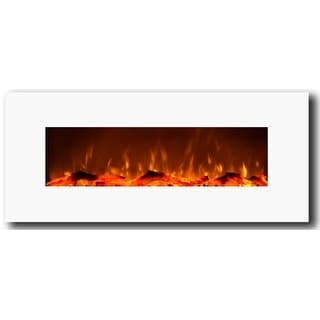 Touchstone 80002 Ivory White 50 inch Wall Mounted Electric Fireplace - ivory white
