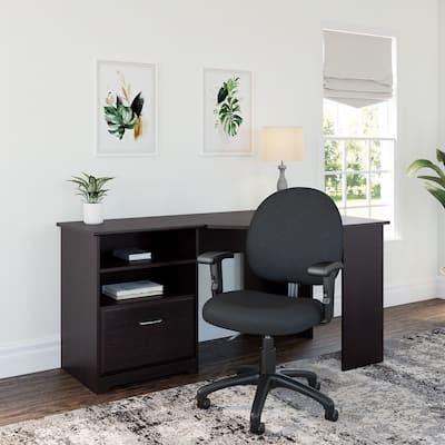 Copper Grove Daintree Corner Desk and Office Chair in Espresso Oak