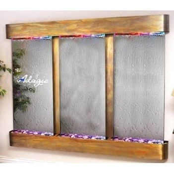 Adagio Deep Creek Falls With Silver Mirror in Rustic Copper Finish and Rounded E