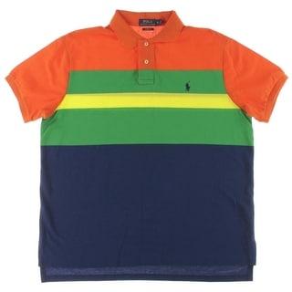 Polo Ralph Lauren Mens Side Vents Colorblock Polo Shirt - XL