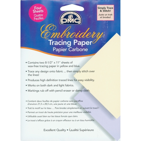 "Embroidery Tracing Paper-8.5""X11"" 4/Pkg"
