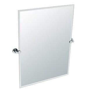 Gatco 4689S Channel Rectangular Beveled Tilting Wall Mirror - Chrome