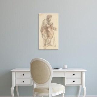 Easy Art Prints Leonardo da Vinci's 'Masquerader in the guise of a Prisoner' Premium Canvas Art