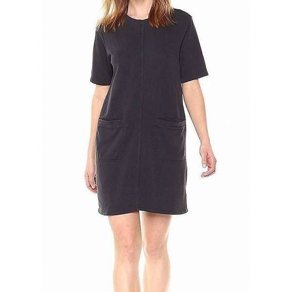 Alternative Black Women's Size XS Pocket French Terry Shift Dress
