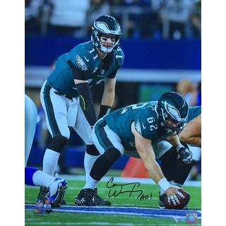 Carson Wentz Signed 16x20 Philadelphia Eagles Under Center Photo Fanatics