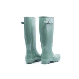 Hunter Womens Succulent Green Original Tall Gloss Rain Boots