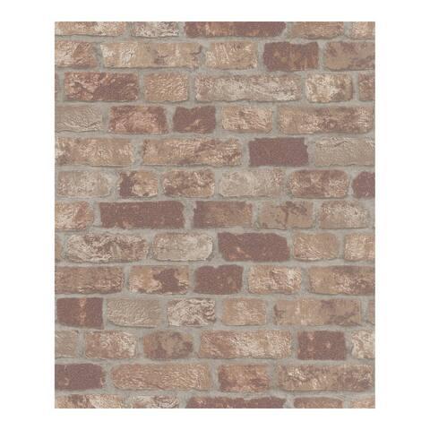 Granulat Brown Stone Wallpaper - 20.5 x 396 x 0.025