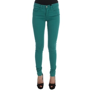 Costume National Costume National Green Cotton Blend Slim Fit Jeans - w28