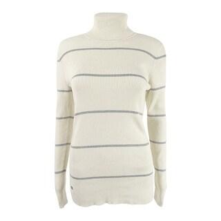 Lauren Ralph Lauren Women's Striped Turtleneck Sweater