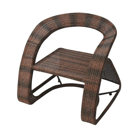 Transitional Rectangular Rattan Chair - Dark Brown