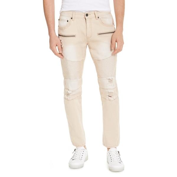 INC International Concepts Men's Ripped Skinny Jeans Beige Size 33 - 33 Reg. Opens flyout.