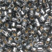Miyuki Delica Seed Beads 10/0 Silver Lined Grey DBM0048 8 GR