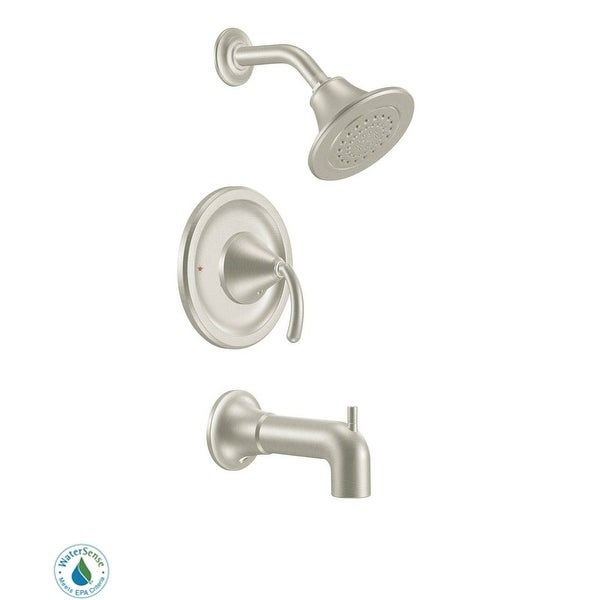 Moen TS2143EP Posi-Temp Pressure Balanced Tub and Shower Trim with 1.75 GPM Shower Head and Tub Spout from the Icon Collection