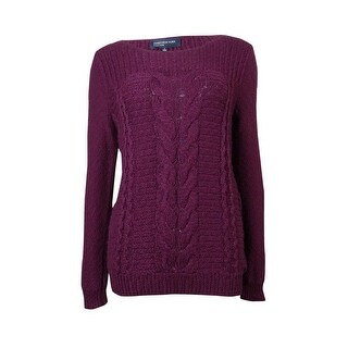 Jones New York Women's Basic Cable Knit Sweater