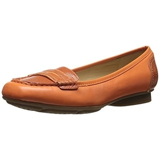 Geox Womens Stefany Leather Square Toe Penny Loafers - 39 medium (b,m)