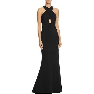 JS Collections Womens Evening Dress Criss-Cross Cut-Out