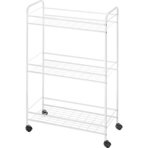 Whitmor 6023-6001 household cart slim 3tier wht