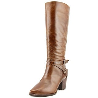 Matisse Vamped Pointed Toe Leather Knee High Boot
