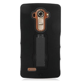 Insten Symbiosis Dual Layer Hybrid Stand Rubber Silicone/ PC Case Cover For LG G4