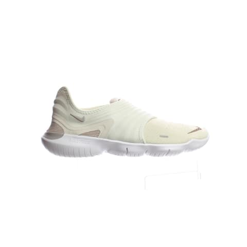 Nike Womens Free Rn Flyknit 3.0 Cream/Teal Tint Running Shoes Size 9