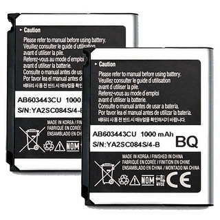 Replacement Battery AB603443CU 1000mAh for Samsung S5230 / U940 Phone Models (2-Pack)