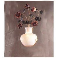 """Classic Lighting 3695 Bouquet 1 Light 18"""" High Floral Wall Sconce"""
