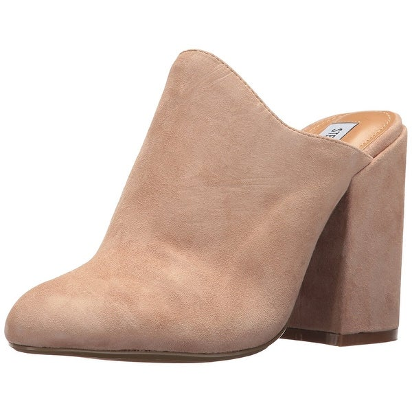 Steve Madden Womens SINCLAIRE Almond Toe Mules