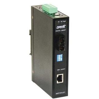 Transition Networks SISTF1011-211-LRT Transition Networks Media Converter - 1 x Network (RJ-45) - 1 x ST Ports - 10/100Base-TX,