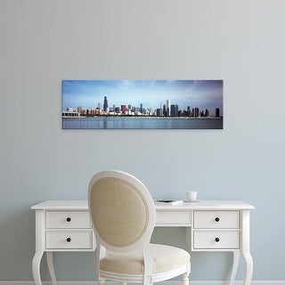 Easy Art Prints Panoramic Image 'Skyscrapers at the waterfront, Lake Michigan, Chicago, Cook, Illinois' Canvas Art