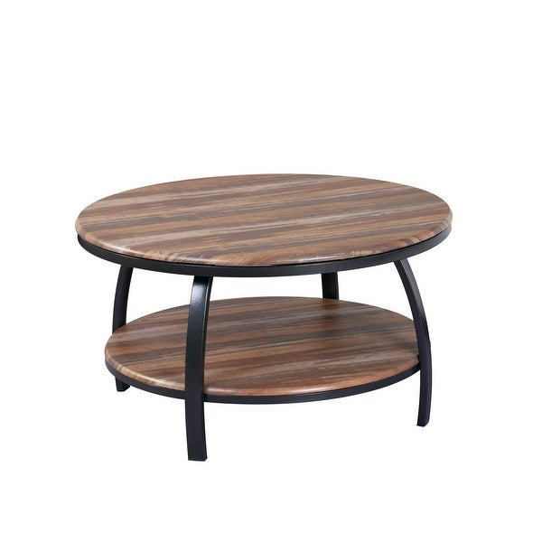 Carbon Loft Wolfe Wood Round Coffee Table. Opens flyout.