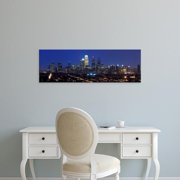 Easy Art Prints Panoramic Image 'Comcast Center, Center City, Philadelphia, Pennsylvania' Canvas Art