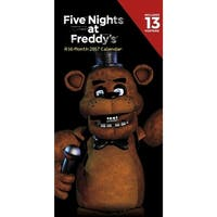"Five Nights At Freddy's 2017 12""x6"" Vertical Wall Calendar - multi"