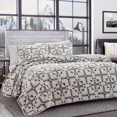 Eddie Bauer Arrowhead Cotton Charcoal Quilt Set