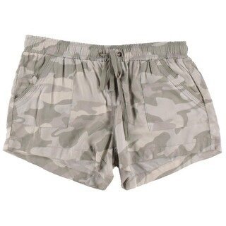 Rewash Womens Juniors Pull On Camouflage Casual Shorts