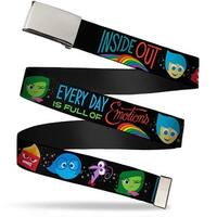 Blank Chrome  Buckle Inside Out Emotion Expressions Every Day Is Full Web Belt
