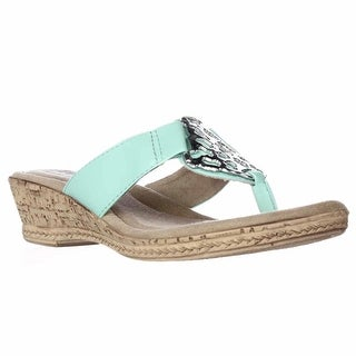 Tuscany by Easy Street Rossano Comfort Wedge Sandals - Mint