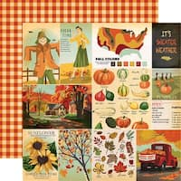 "Fall Break Double-Sided Cardstock 12""X12""-Journaling Cards"