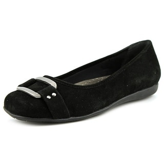 Trotters Sizzle Signature Women N/S Round Toe Suede Black Flats