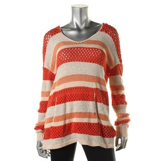 Sanctuary Womens Striped Hooded Hooded Sweater - M