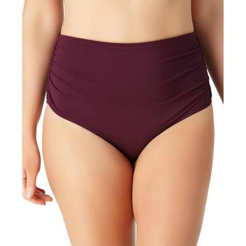 7d5bee1fc4c Anne Cole Signature Plus Size Live in Color Convertible Bikini Bottom, 20W,  Aubergin