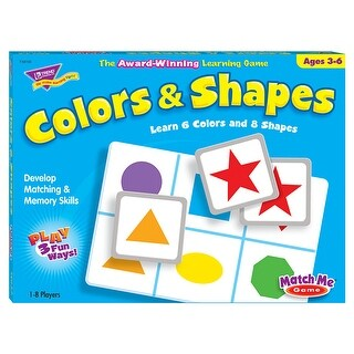 Match Me Game Colors & Shapes Ages
