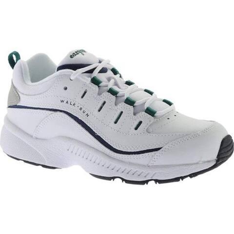 Easy Spirit Women's Romy Walking Shoe White Multi Leather