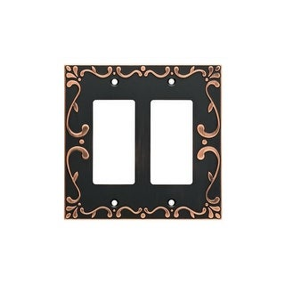 Franklin Brass W35077-C Classic Lace Double Rocker / GFI Outlet Wall Plate (3 options available)