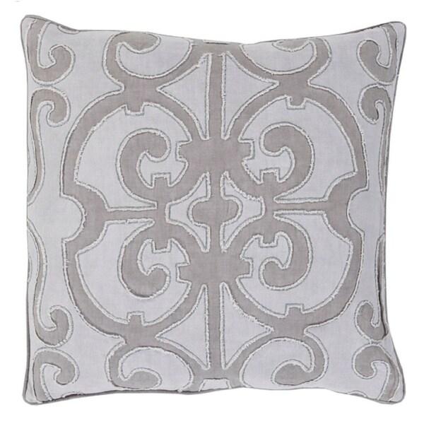 "18"" Princess Dreams Haze Purple and Misty Gray Decorative Throw Pillow - Down Filler"