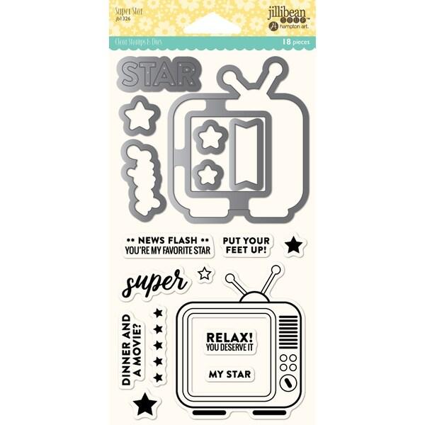 Jillibean Soup Shaker Clear Stamps & Die Set-Super Star