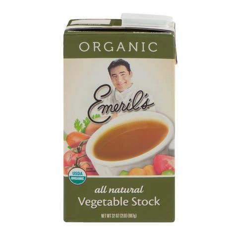 Emeril Organic Vegetable Stock - Case of 6 - 32 Fl oz.