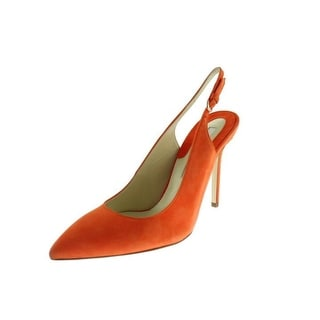 Brian Atwood Womens Suede Pointed Toe Slingback Heels - 37.5